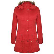 2610a784f6f Girls Coat Kids Fleece Parka Jacket Long Faux Fur Hooded Summer Coats Age  7-13y