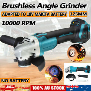 Cordless Brushless Angle Grinder 125mm Replace For Makita 18V Battery DGA504Z