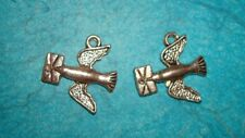 Pendant Bird Charm Carrier Pigeon Charm Flying Animal Feather Charm Bird Club