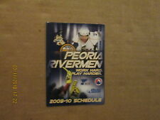 Ahl Peoria Rivermen Vintage Circa 2009-10 Logo Hockey Pocket Schedule