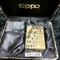 Rare! ZIPPO Limited Edition Genuine Python Snake Leather-Bound Lighter!