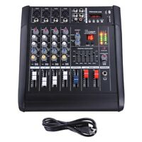 4 Channel Professional Powered Mixer Power Mixing Amplifier W/USB Slot Amp 16DSP