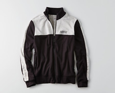 MENS AMERICAN EAGLE AEO BLACK & GRAY ZIP UP TRACK JACKET SIZE XL