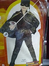 Boys Zorro Costume by Rubie's New Size 8-10