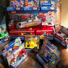 Paw Patrol Ultimate Rescue FIRETRUCK  w/ 12 VEHICLE PLAYSETS COMPLETE SET NEW