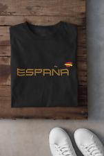 Camiseta de España.  Para hombre o mujer. Letras en Oro con bandera de España