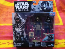 Figurines Star wars Rogue One Rebel commando PAO and Imperial Death Trooper Neuf