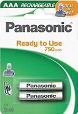 4x Panasonic AAA Akku Accu Ni-MH Micro 1,2V 750mAh für DECT Siemens Telefon