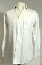 Ike Behar Men's Button Up Shirt in Ivory Color - Size 15-32