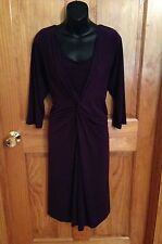 Fashion Bug Women's Plus Stretch Purple Dress Size 0X XL