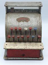 VINTAGE 1950's  CODEG METAL TOY CASH REGISTER SHOP KEEPERS TILL WORKING!👍