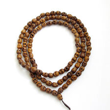 10mm*8mm Tibet Buddhist 108 Jujube Wood Skull Prayer Beads Mala Necklace