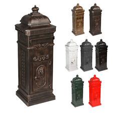 antiker Aluminium Standbriefkasten nostalgischer Briefkasten LUNA antik Bronze
