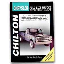 Chilton Repair Manual for 1981-1988 Dodge D350 - Shop Service Garage Book pe