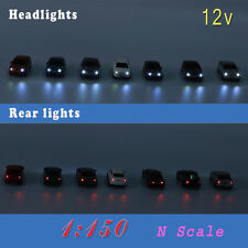 12pcs 1 150 N Scale Model Lighted Cars With 12v LEDs Lights for Building Layout