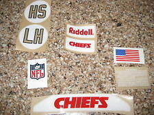 Kansas City Chiefs  20 mil 3M vinyl full size football helmet decals
