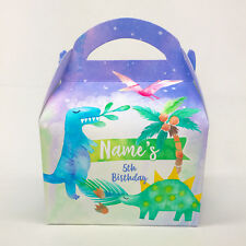 Dinosaurs Watercolour Personalised Children Party Boxes Gift Favour 1ST CLASS