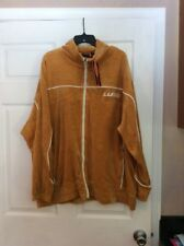 Lugs mustard yellow velor jacket size 2x - new -men