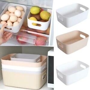 Storage Box Plastic Basket Kitchen Desktop Sundries Snack Cosmetic Container x 1