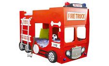 Etagenbett Feuerwehrbett Kinderbett Autobett Bett Spielbett Kindermöbel Rot