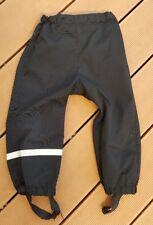 H&M Regenhose/Matschhose/Buddelhose/Hose Wetter Gr. 92-98-104 schwarz ohne Latz
