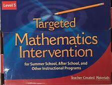 Targeted Mathematics Intervention Level 5 Kit Teacher Created Materials TCM11131