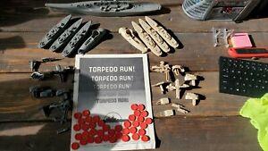 TORPEDO RUN - VINTAGE 1986 MILTON BRADLEY FLOOR WARS BOARD GAME PARTS LOT