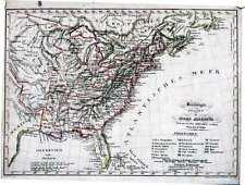 Antique map, Vereinigte staaten in Nord America