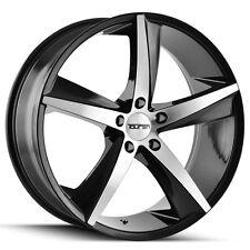 "4-NEW Touren 3272 TR72 18x8 5x114.3/5x4.5"" +35mm Black/Machined Wheels Rims"