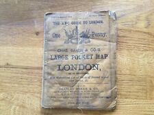 Rare vintage Chas Baker Stores Pocket Map Guide ABC of London 1887