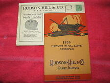 1936 HUDSON HILL & Co, OLNEY ILLINOIS THRESHER AND MILL CATALOG,MINT IN ENVELOPE