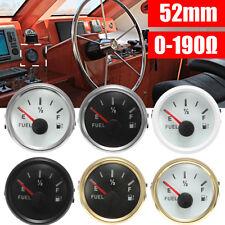 "6 Type 2"" 52mm Universal Boat Fuel Level Gauge Meter With Fuel Sensor EF Pointer"