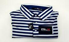 RLX Ralph Lauren - Magnolia Lane Dark Blue White Golf Shirt UPF 40+ XL NEW