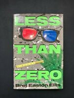 Less Than Zero by Brett Easton Ellis SIGNED 1st edition 4th printing hardcover