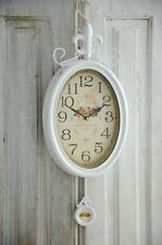 Clayre & Eef Wanduhr Pendeluhr Uhr Clock Shabby Chic Vintage Landhaus