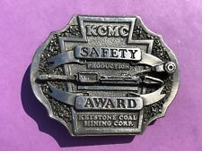 KCMC Safety production award - Keystone PA Coal mining corp Vintage Belt Buckle