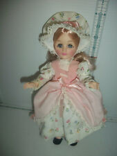 "Vintage Vinyl Effanbee Storybook Little Bo Peep Doll 1975 Pink Outfit 11"" Tall"