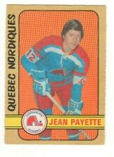 1972-73 O-PEE-CHEE OPC WHA #326 JEAN PAYETTE QUEBEC NORDIQUES HOCKEY CARD EX