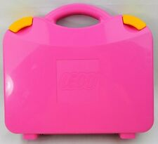 Pink Lego Carry Case Storage Box Travel Hard Plastic Mini Figure Blocks Carrying