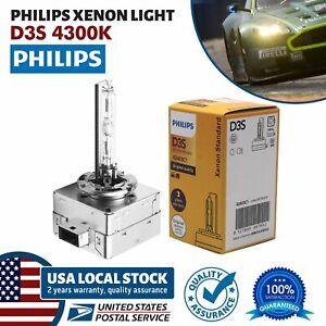 1x Genuine PHILIPS D3S Car Headlight Xenon Standard Vision HID Bulb Lamp 4200K