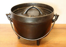 Primitive Cast Iron 3 Leg Hearth Cookware Dutch Oven Baking Kettle Camp Stove
