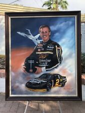 "Original Rusty Wallace Acrylic Painting By Jeanne Barnes- ""Licensed to Fly"""