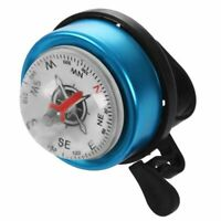 Bicycle Bike Compass Style for Dia 22mm Handlebar Ring Bell Alarm Blue Bla O1D6