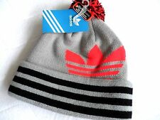 Adidas Climawarm Gris/Noir Pompon Beanie Beret Pompon Taille Unique Made By Agron YY12