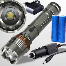 5000Lumen XML T6 LED Zoomable Flashlight Torch Lamp + 18650 Battery + Charger