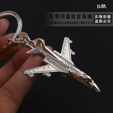 F-16 Fighter Jet Military Airplane Aeroplane Silver Metal Keyring Key Chain Gift