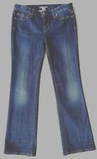 Ann Taylor Mid Rise Boot Cut Distressed Blue Stretch Denim Jeans 6 X 32""