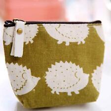 Fashion Women Man Wallet Zipper Pencil Case Portable Key Coin Purse Makeup Bags