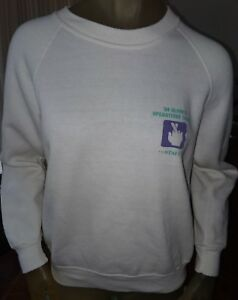 Vintage 1984 Olympic Operations Center Staff Sweater Sweat Shirt Los Angeles USA
