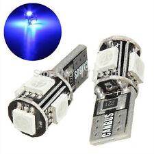 10Pcs 12V Blue T10 194 W5W 5050 5-SMD Canbus Error Free  Car LED License Light